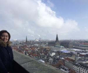 市庁舎の展望台からの眺め