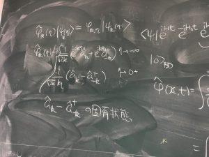 ゼミの黒板の一部